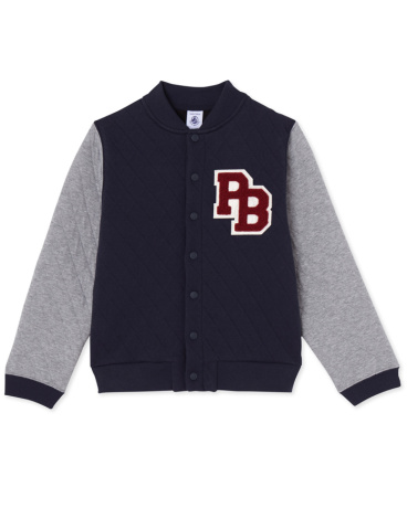 Boys' quilted teddy jacket