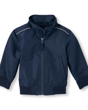 Boys Uniform Zip-Up Windbreaker Jacket