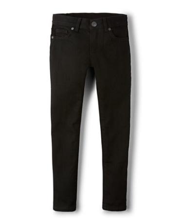 Girls Basic Super Skinny Jeans - Black Wash
