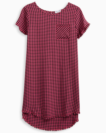 Little Girl Plaid Swing Dress
