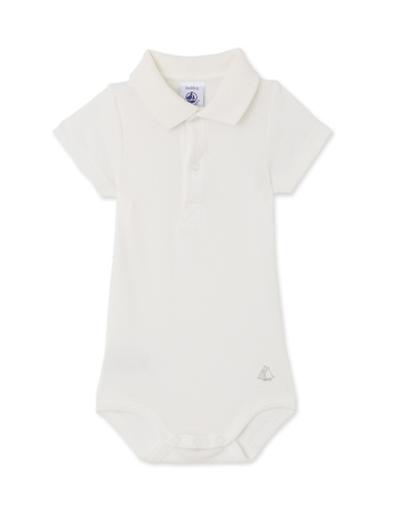 Baby boys' bodysuit with collar