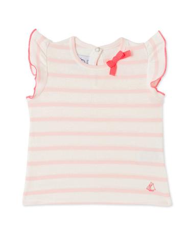 Baby girls' striped tee