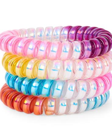 Girls Metallic Ombre Coil Bracelet 4-Pack