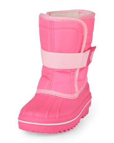 Toddler Girls Solid Neon Snowboot