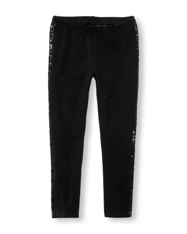 Girls Sequin Taping Leggings