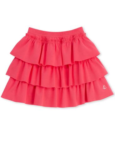Girls' plain ruffled skirt