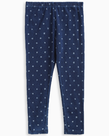Little Girl Indigo Printed Legging