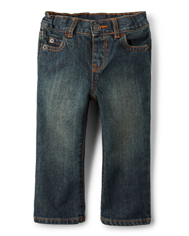 Baby And Toddler Boys Basic Straight Jeans - Aged Stone Wash