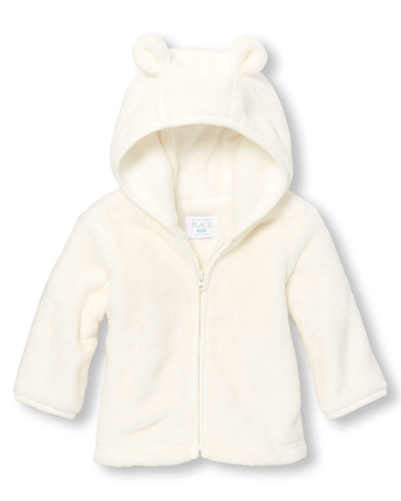 Unisex Baby Layette Long Sleeve Cozy Full-Zip Hoodie