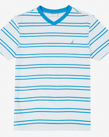 Little Boys' Striped V-Neck Tee (2T-7)