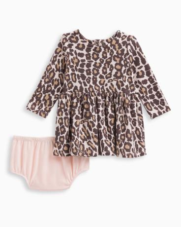 Baby Girl Animal Print Loose Knit Dress