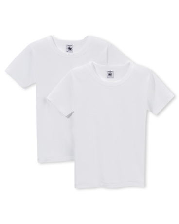 Pack of 2 boy's plain T-shirts