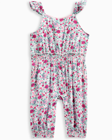 Baby Girl Allover Print Jumpsuit
