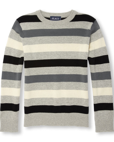 Boys Long Sleeve Multi-Striped Sweater