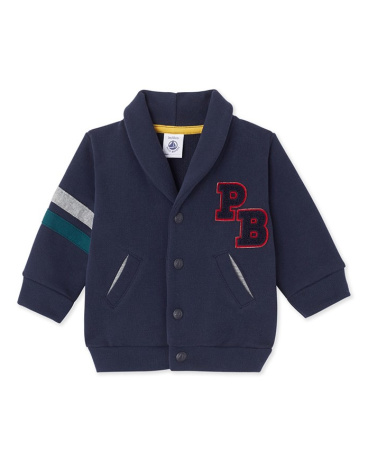 Baby boy's fleece cardigan