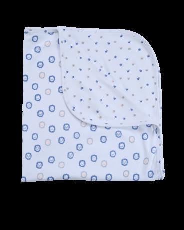 Reversible Lion Print Jersey Blanket