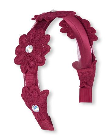 Girls Embellished Crochet Flower Headband