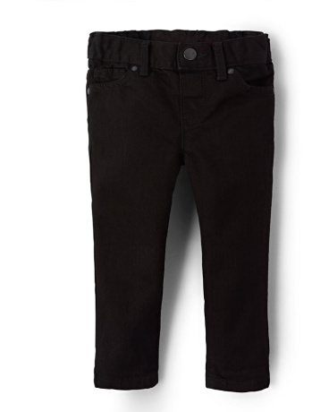 Baby And Toddler Girls Basic Skinny Jeans - Black Wash