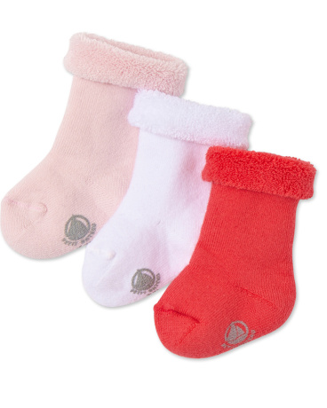 Gift set with three pairs of baby socks