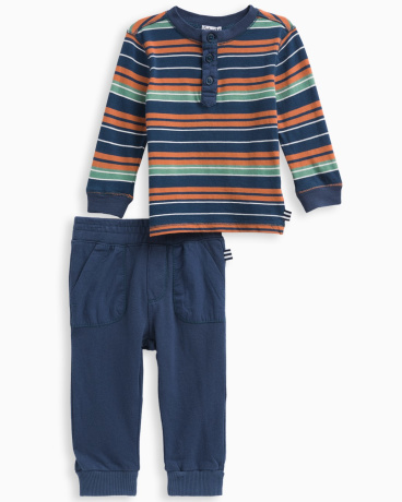 Baby Boy Stripe Jersey Set