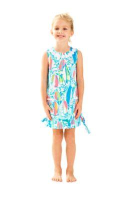 Girls Little Lilly Classic Shift Dress - Sunglow
