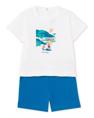 Baby boys' shorts and T-shirt set