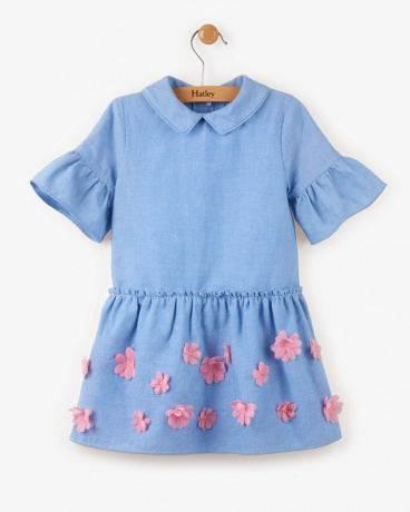 Pop-Up Floral Shirt Dress
