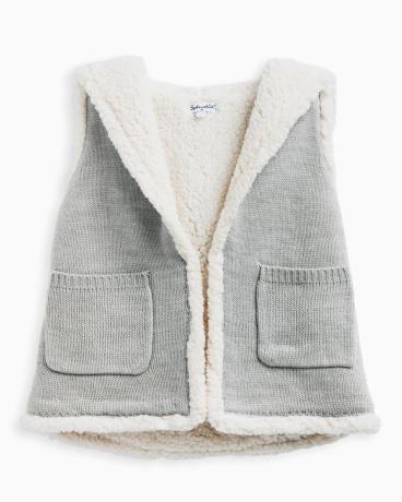 Little Girl Hooded Sherpa Vest
