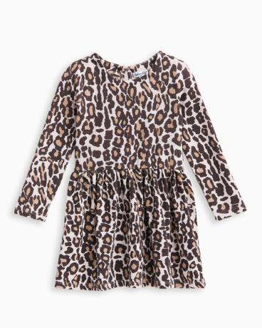 Little Girl Animal Print Loose Knit Dress