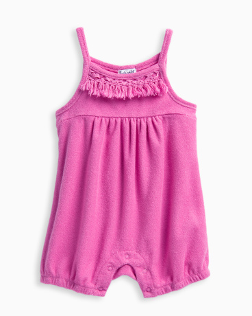 Baby Girl Terry with Fringe Romper