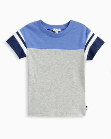 Little Boy Short Sleeve Football Tee