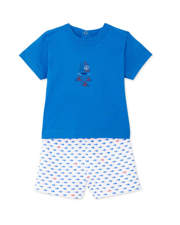 Baby boys' print short pyjamas