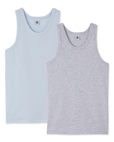 Pack of 2 teenage boy's vest tops