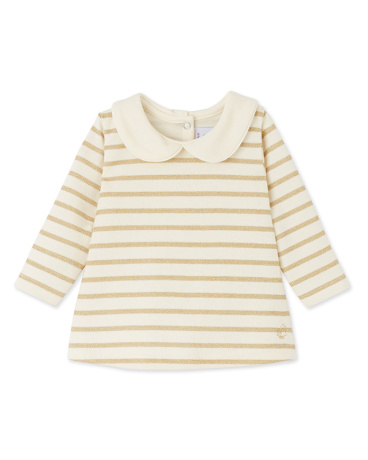 Baby girl blouse with lurex stripes
