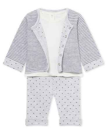 Baby boy's reversible 3-piece set