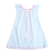 Sleeveless Striped Cotton Poplin Dress