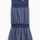 Girl Indigo Romper with Lace