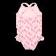 Girls Criss Cross Ruffle Swimsuit