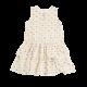 Gold Ruffle Bottom Jersey Cotton Dress