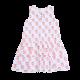 Peach Print Ruffle Bottom Cotton Dress
