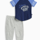 Baby Boy Athletic Set with Brushed French Terry Pant