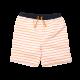Boys Orange Stripe Drawstring Swim Trunk