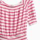Little Girl Off The Shoulder Stripe Dress