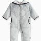 Baby Boy Faux Fur Hooded Coverall