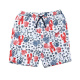 Boys Graphic Print Drawstring Swim Trunk