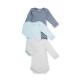 Set of 3 baby boy's long-sleeved bodysuits