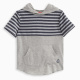 Little Boy Stripe Hooded Tee