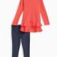 Little Girl Thermal with Chiffon Pant Set