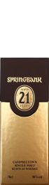 Springbank 21 years Single Malt 2012 70cl