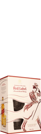 Johnnie Walker Red Label Limited Edition Giftset 70cl